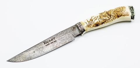 Нож Осётр, литой булат Баранова, светлая рукоять