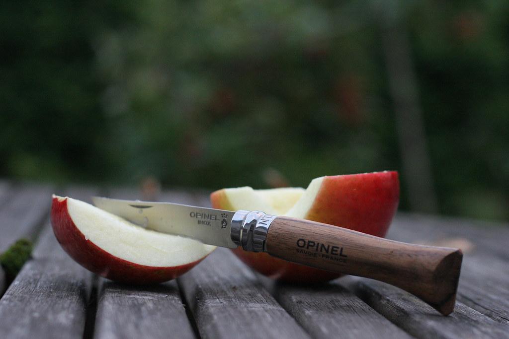 Фото 5 - Нож складной Opinel №6 Walnut Tree, сталь Sandvik™ 12С27, рукоять орех, 002025