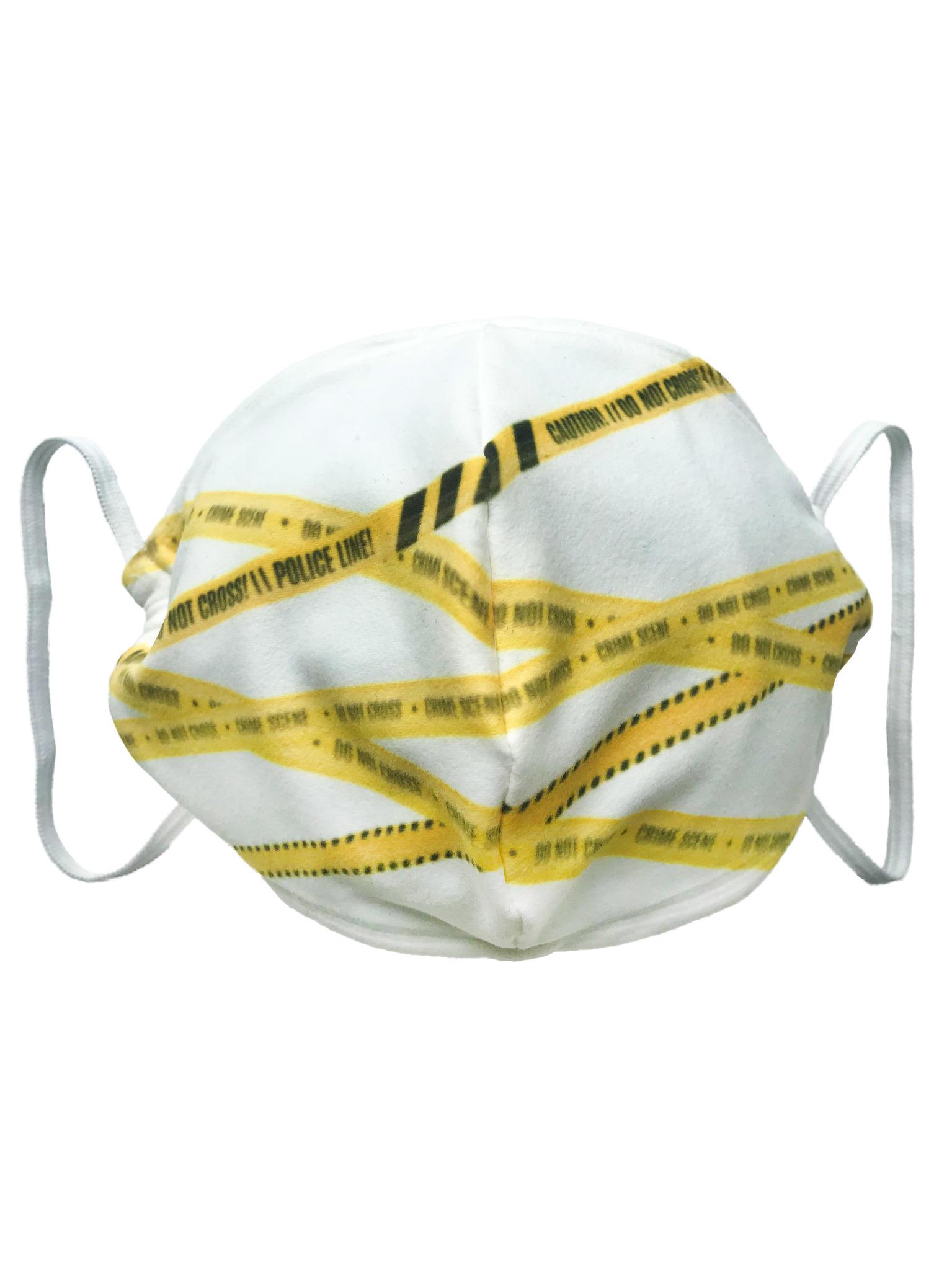 Маска тканевая Оградительная лента, белая от gekoko