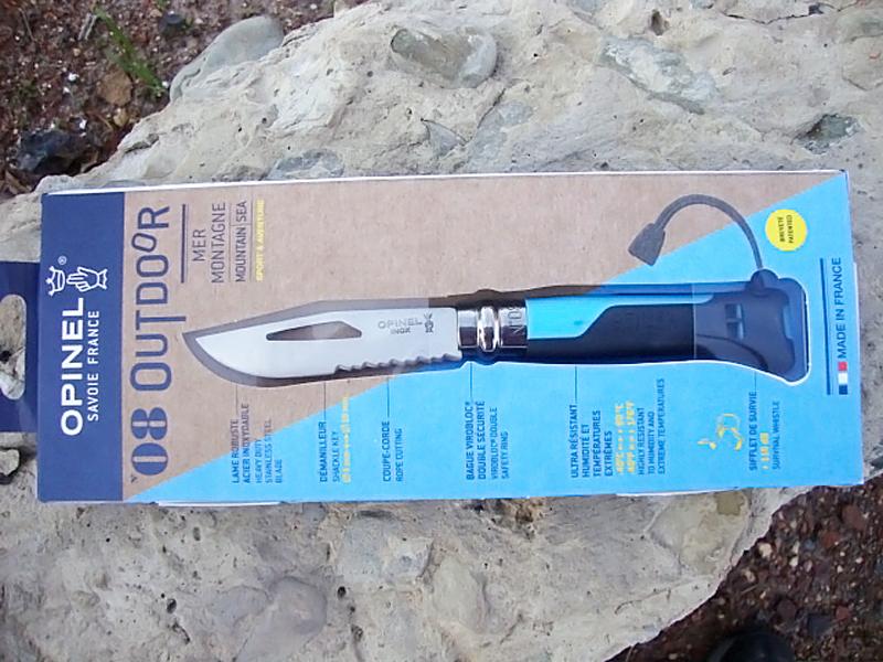 Фото 14 - Складной Нож Opinel №8 VRI OUTDOOR EARTH, нержавеющая сталь Sandvik 12C27, синий, 001576