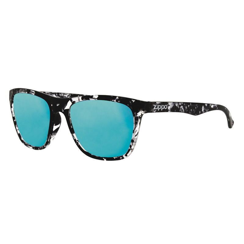 Фото - Очки солнцезащитные ZIPPO OB35-01, унисекс, чёрные, оправа из поликарбоната очки солнцезащитные zippo ob70 01 унисекс чёрные оправа из поликарбоната