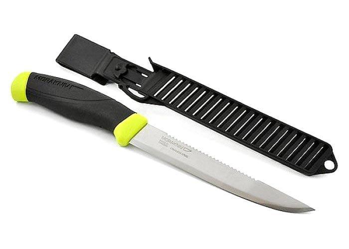 Фото 9 - Нож с фиксированным лезвием Morakniv Fishing Comfort Scaler 150, сталь Sandvik 12C27, рукоять резина/пластик