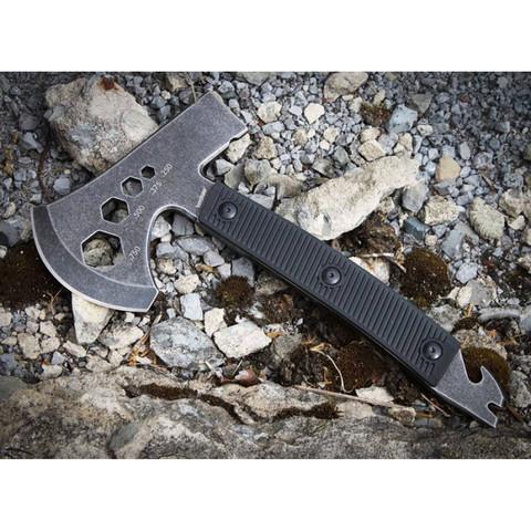 Топор туристический KERSHAW 1071BW - Tinder, сталь 3Cr13 Black-Oxide BlackWash™, рукоять высококачественный термопластик. Вид 5