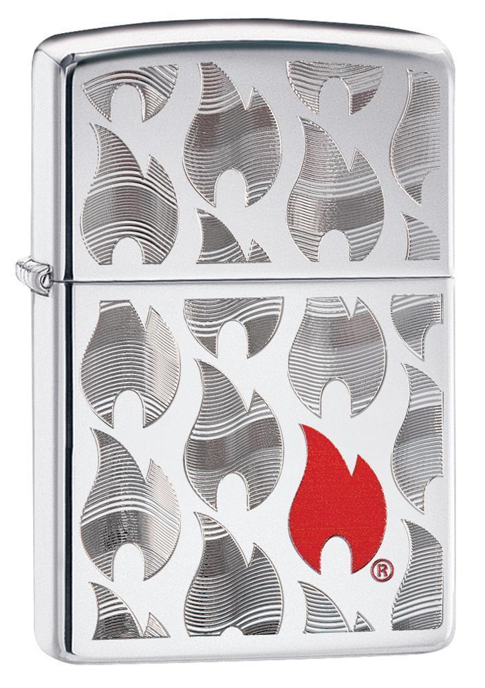 Зажигалка ZIPPO Classic с покрытием High Polish Chrome, латунь/сталь, серебристая, 36x12x56 мм зажигалка zippo classic орел с покрытием high polish chrome латунь сталь серебристая 36x12x56 мм