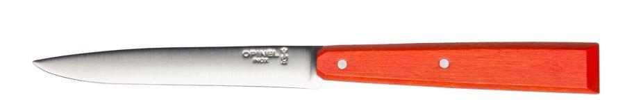 Нож столовый Opinel №125, нержавеющая сталь, красный