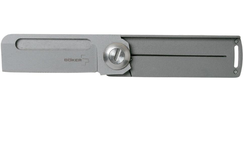 Фото 11 - Нож складной Boker Plus Darriel Caston Design Rocket Titan, сталь клинка 9Cr13CoMoV Bead Blasted Plain, рукоять титан, 01BO264
