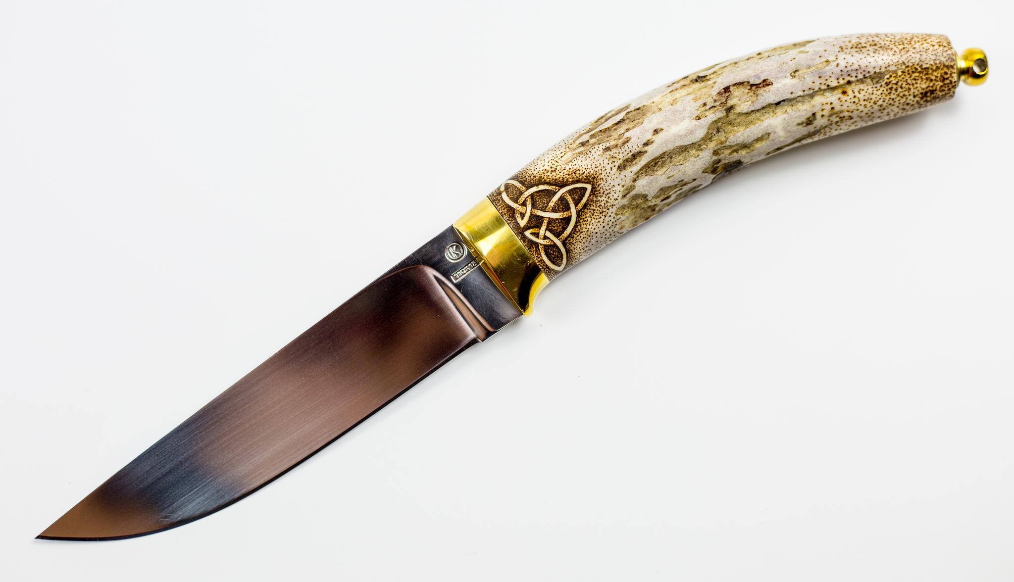 Фото 10 - Нож Грибник, сталь 110Х18, рукоять рог от Ножи Крутова