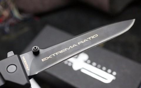 Складной нож Extrema Ratio Nemesis Black (Ruvido Handle), сталь Böhler N690, рукоять черный антикородал (алюминиевый сплав). Вид 2