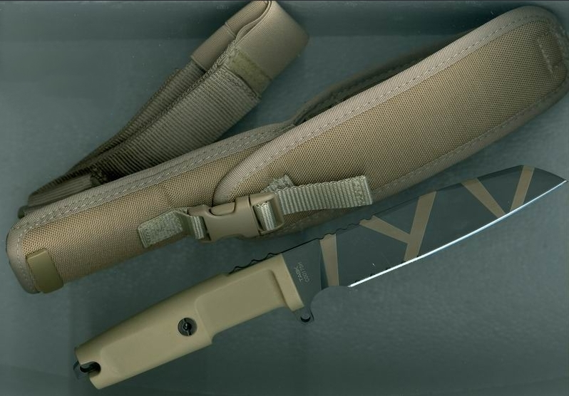 Фото 8 - Нож с фиксированным клинком Extrema Ratio Task Desert Warfare, сталь Bhler N690, рукоять прорезиненный форпрен