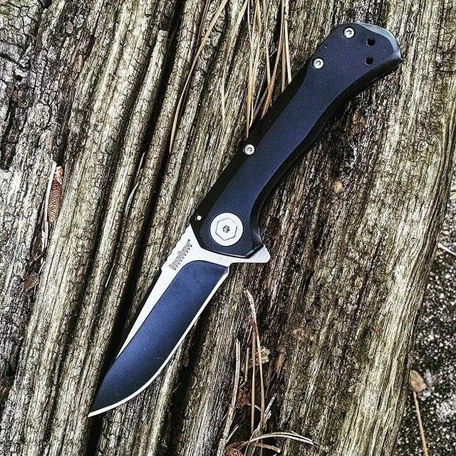 Фото 7 - Складной полуавтоматический нож Kershaw Showtime K1955, сталь 8Cr13MoV, рукоять нержавеющая сталь