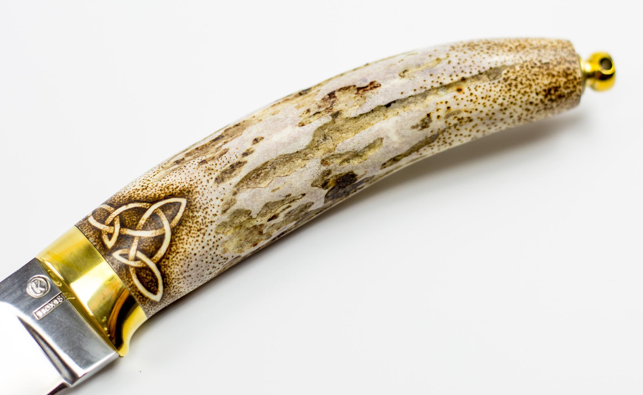 Фото 13 - Нож Грибник, сталь 110Х18, рукоять рог от Ножи Крутова