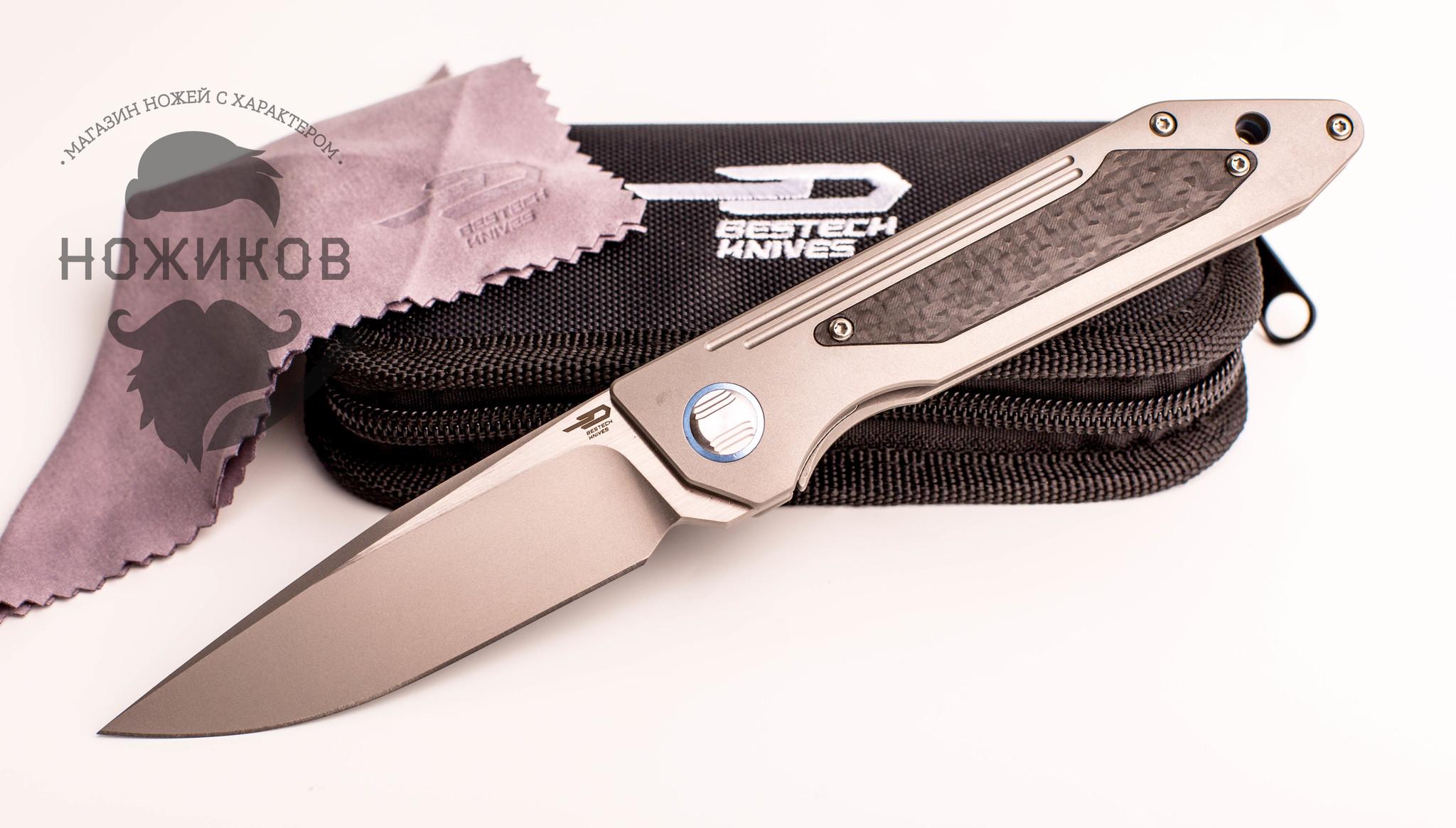 Складной нож Bestech SHINKANSEN BT1803A, сталь CPM-S35VN, рукоять титан складной нож bestech predator limited edition black bt1706d сталь cpm s35vn рукоять титан
