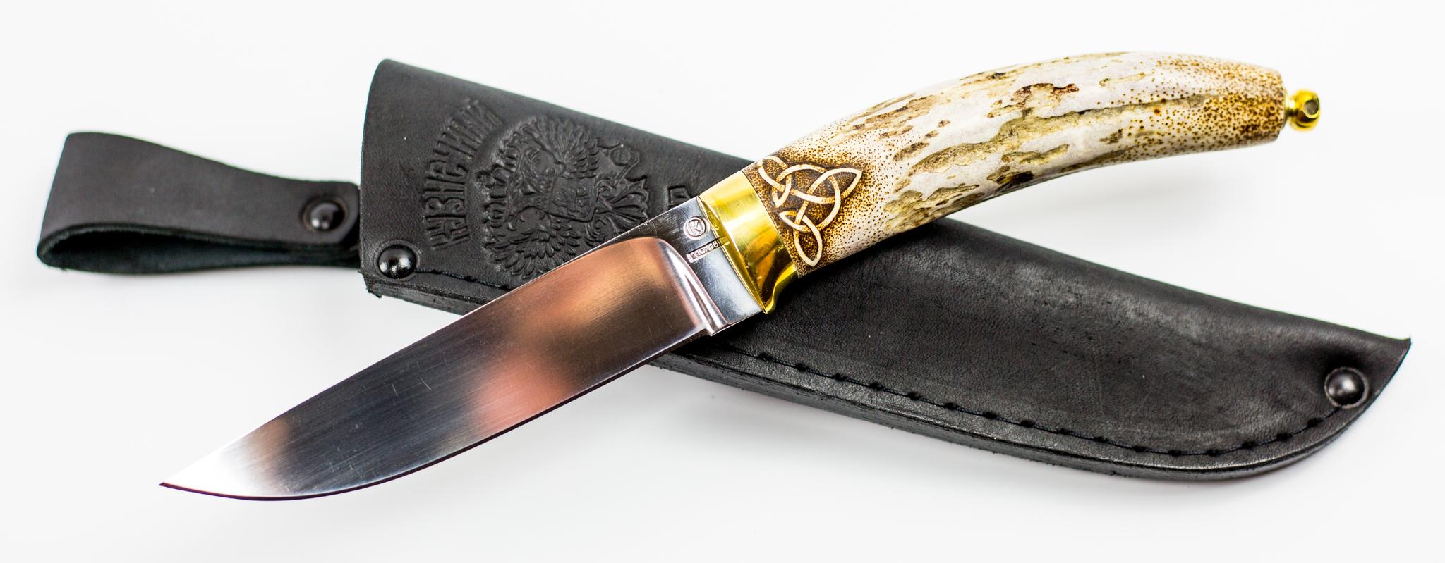 Фото 15 - Нож Грибник, сталь 110Х18, рукоять рог от Ножи Крутова
