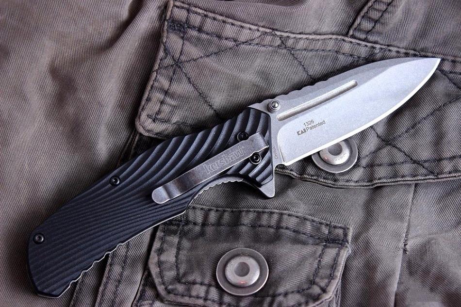 Фото 9 - Складной полуавтоматический нож Kershaw Huddle K1326, сталь 8Cr13MoV, рукоять пластик
