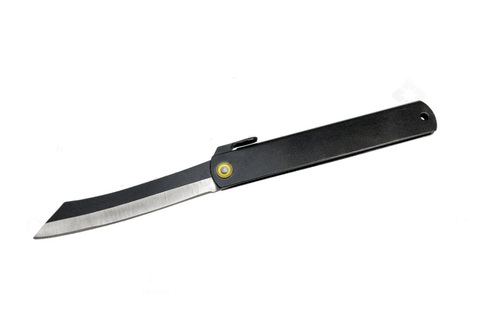 Нож складной Higonokami Itto Ryu, HKC-18466, сталь Solid Carbon steel, чёрный. Вид 2