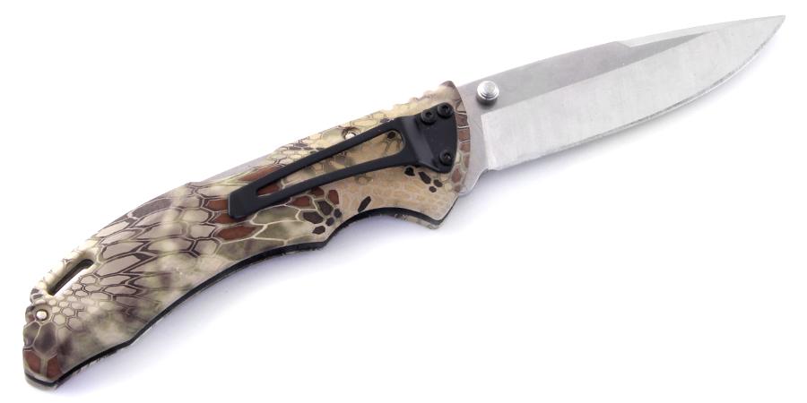 Фото 10 - Складной нож Buck Bantam BHW Kryptek Highlander Camo 0286CMS26, сталь 420НС, рукоять пластик