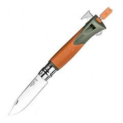 Складной нож Opinel №12 Explore, нержавеющая сталь Sandvick 12C27, рукоять термопластик, оранжевый, фото 1