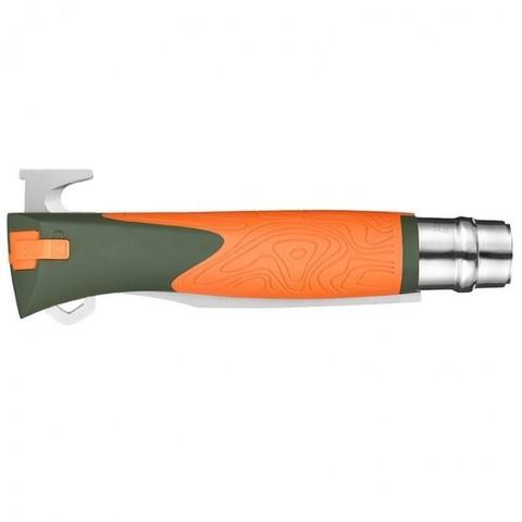 Складной нож Opinel №12 Explore, нержавеющая сталь Sandvick 12C27, рукоять термопластик, оранжевый. Вид 2