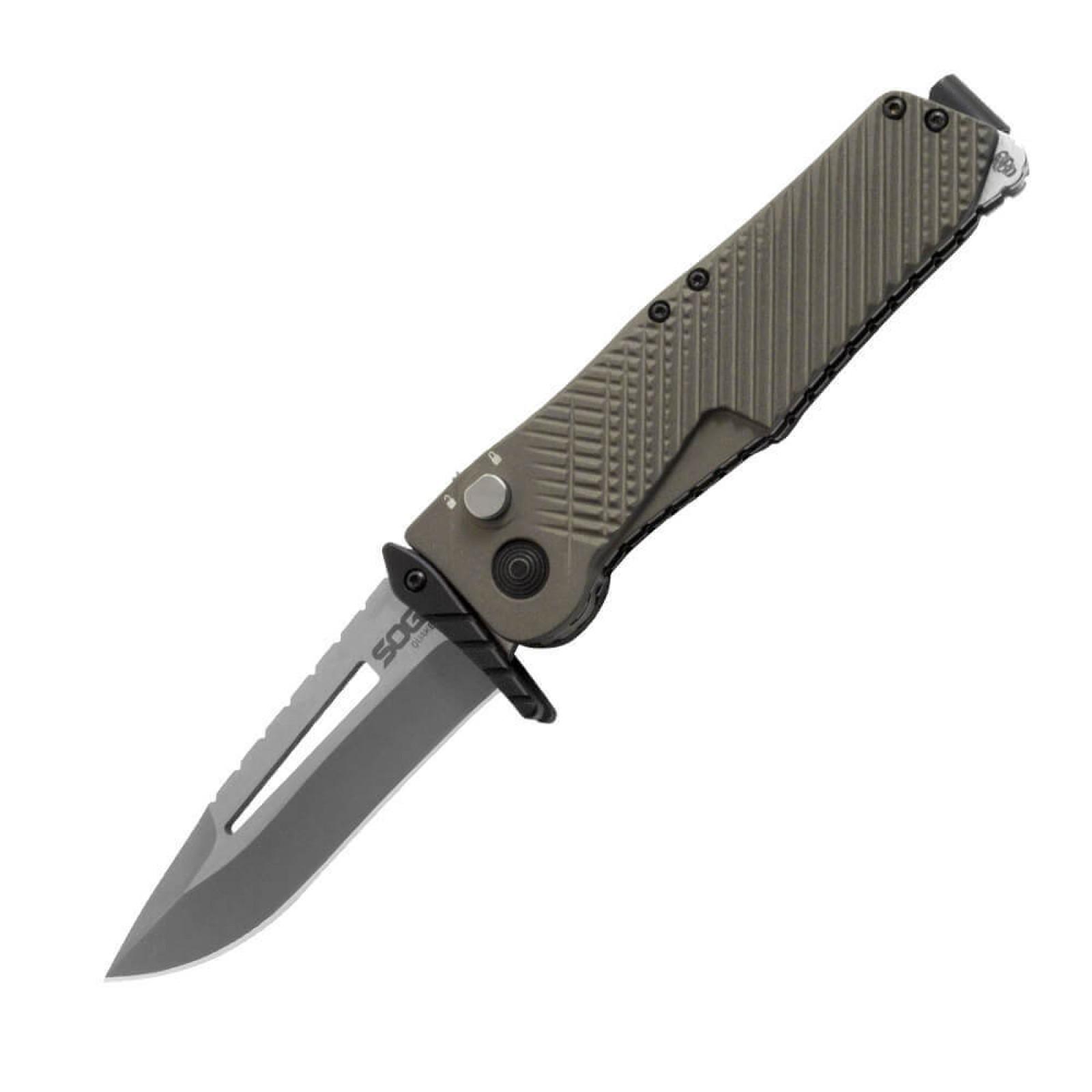 Фото 4 - Складной нож Quake - SOG IM1001, сталь VG-10, рукоять алюминий, зелёный