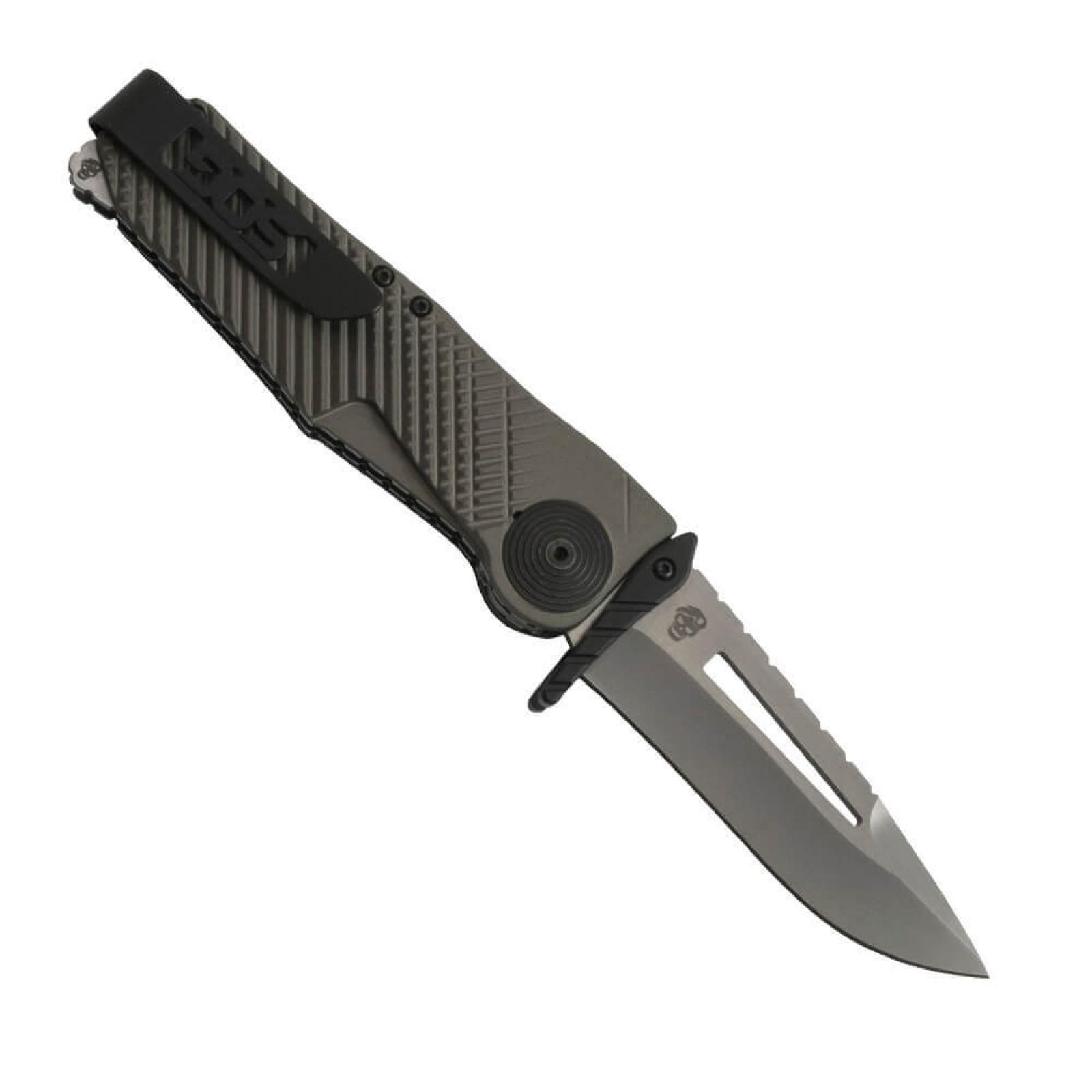 Фото 5 - Складной нож Quake - SOG IM1001, сталь VG-10, рукоять алюминий, зелёный