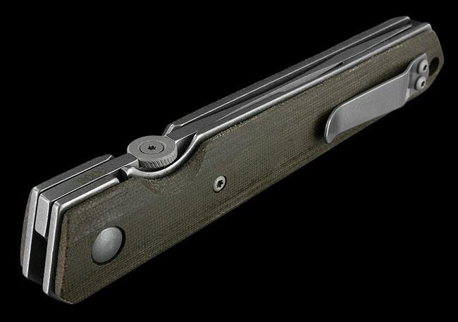 Фото 8 - Нож складной Kwaiken Folder Micarta (IKBS®), Boker Plus 01BO291, сталь AUS-8 Stonewash Plain, рукоять микарта