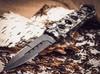 Нож-рамка Хамелеон, рукоять с черепами - Nozhikov.ru