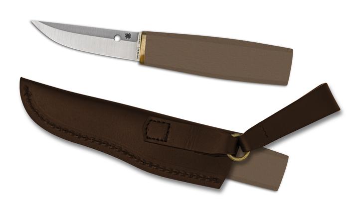 Фото 6 - Нож с фиксированным клинком Puukko - Spyderco FB28GBNP, сталь Crucible CPM® S30V™ Satin Plain, рукоять стеклотекстолит G10, коричневый