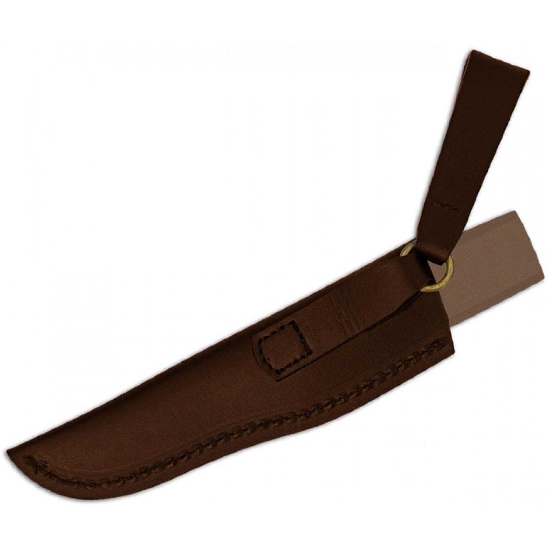 Фото 8 - Нож с фиксированным клинком Puukko - Spyderco FB28GBNP, сталь Crucible CPM® S30V™ Satin Plain, рукоять стеклотекстолит G10, коричневый