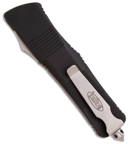 Автоматический фронтальный выкидной нож Troodon - Microtech 139-4 Black, сталь M390, рукоять алюминий. Вид 8