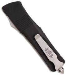 Автоматический фронтальный выкидной нож Troodon - Microtech 139-4 Black, сталь M390, рукоять алюминий, фото 8