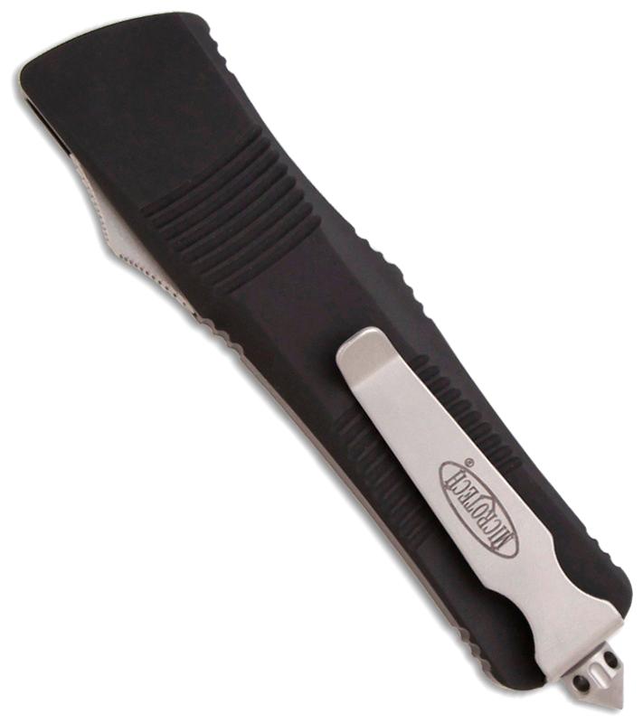 Фото 11 - Автоматический фронтальный выкидной нож Troodon - Microtech 139-4 Black, сталь M390, рукоять алюминий