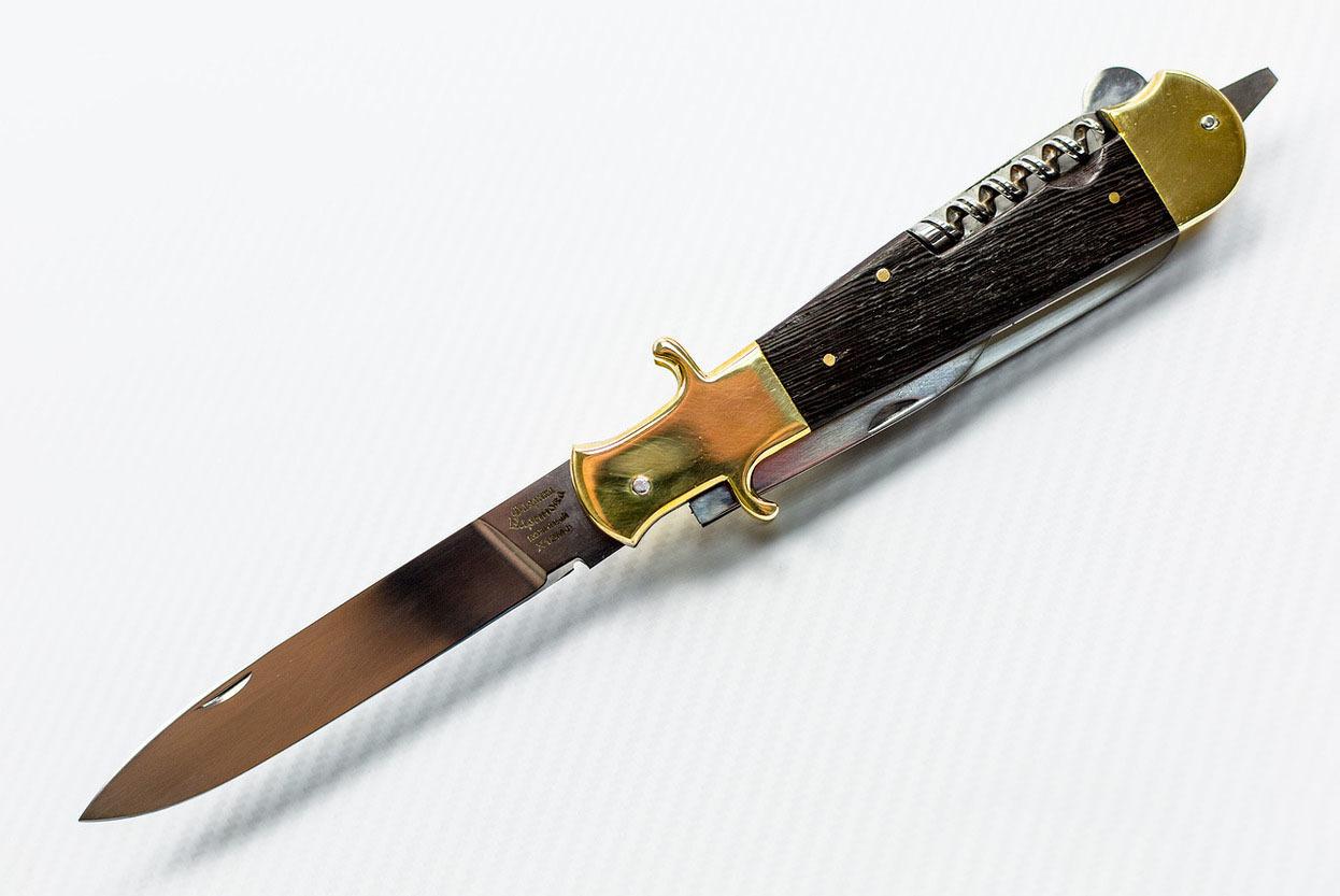 Складной многопредметный нож Егерь, сталь Х12МФ, рукоять венге от Фабрика Баринова