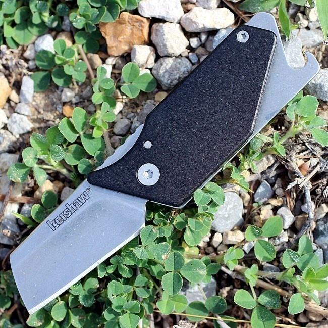 Фото 9 - Складной нож Sinkevich Design Pub - KERSHAW 4036BLK, сталь клинка 8Cr13MoV (Stonewashed), рукоять алюминий/сталь