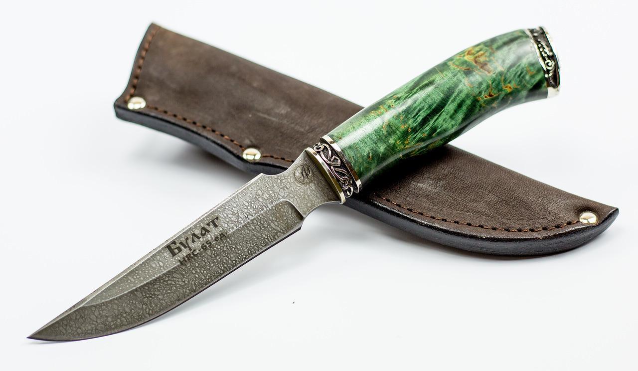 Нож Рысь, литой булат Баранова