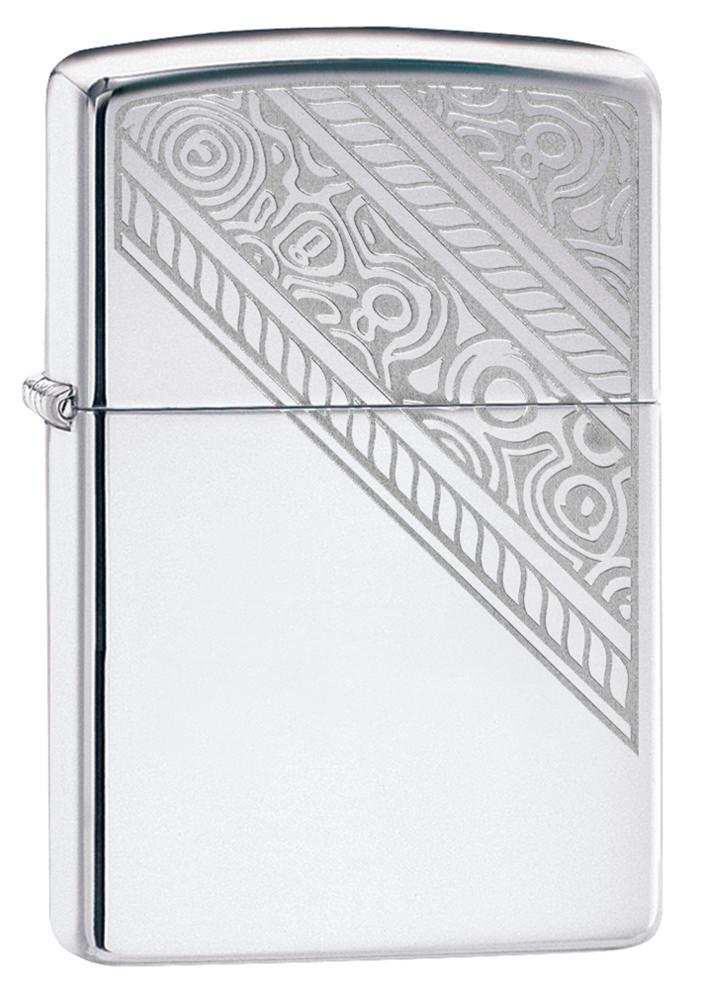 Зажигалка ZIPPO Lace с покрытием High Polish Chrome, латунь/сталь, серебристая, глянцевая, 36x12x56 мм