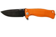 Нож складной LionSteel SR11A OB ORANGE, сталь Uddeholm Sleipner® Black Finish, рукоять алюминий (Solid®), оранжевый, фото 3
