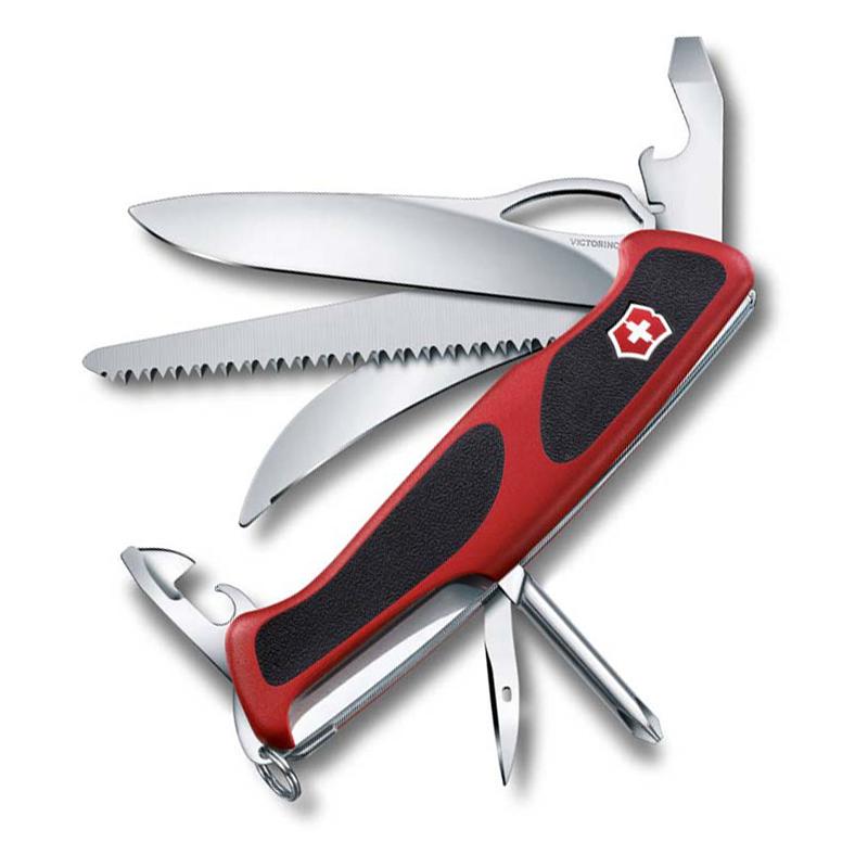 Нож перочинный Victorinox RangerGrip 58 Hunter, сталь X55CrMo14, рукоять полиамид, красно-чёрный