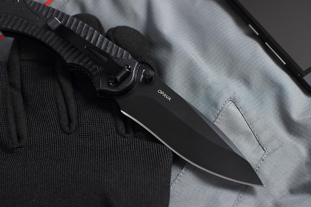 Складной нож OPAVA BLACK, Mr Blade add a circuit blade fuse holder with 30a blade fuse black medium size