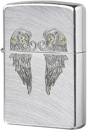 Зажигалка ZIPPO Classic Wings с покрытием Chrome Arch, латунь/сталь, серебристая, матовая, 36x12x56 мм цифра 6 euro 45х30 мм цам цвет матовая латунь