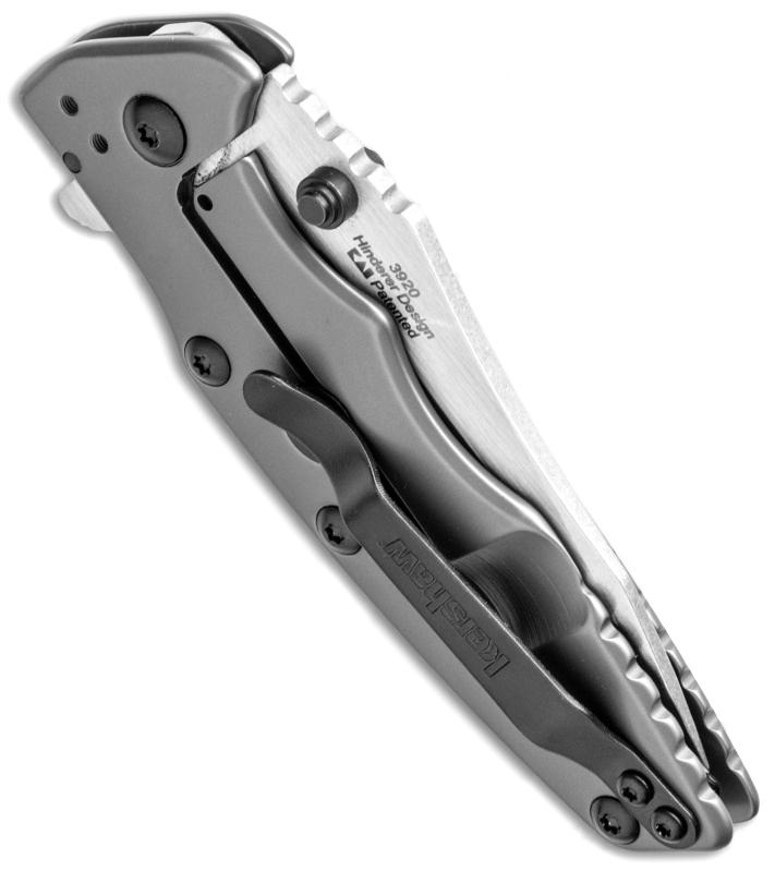 Фото 13 - Складной полуавтоматический нож Kershaw Shield K3920, сталь 8Cr13MoV,  рукоять нержавеющая сталь