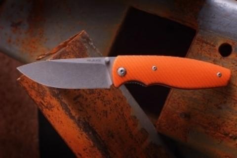 Складной нож  Zipper Orange, D2. Вид 11