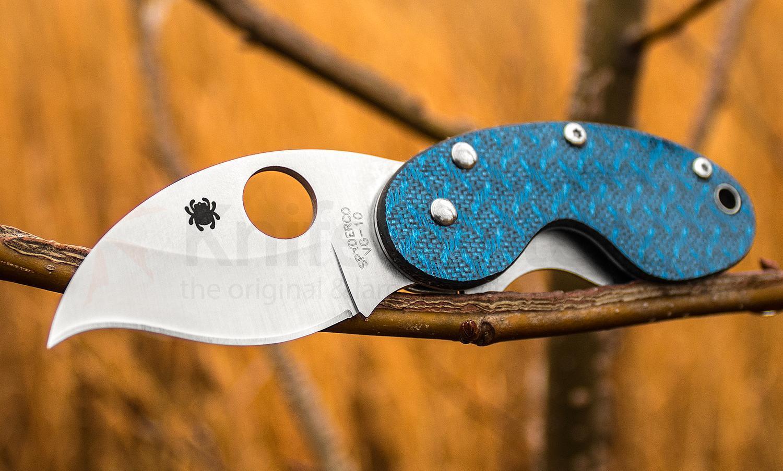 Нож складной Spyderco Cricket Blue C29GFBLP, сталь VG-10, рукоять стекловолокно