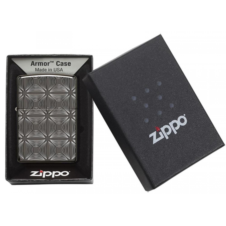 Зажигалка ZIPPO Armor® с покрытием Black Ice®, латунь/сталь, чёрная, глянцевая, 36x12x56 мм зажигалка zippo armor 3 6 х 1 2 х 5 6 см 28808