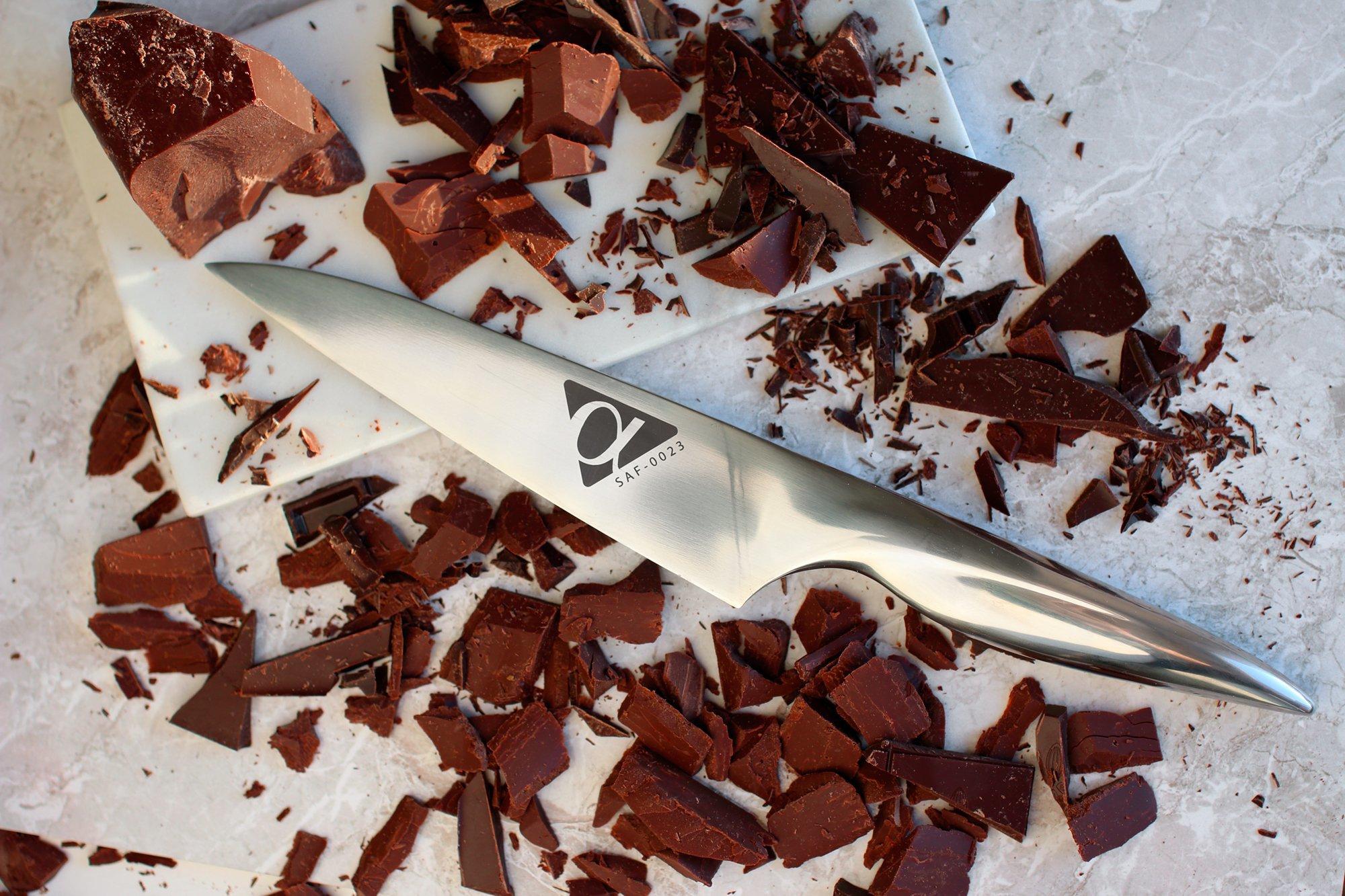 Фото 12 - Нож кухонный универсальный Samura Alfa SAF-0023/Y, сталь AUS-10