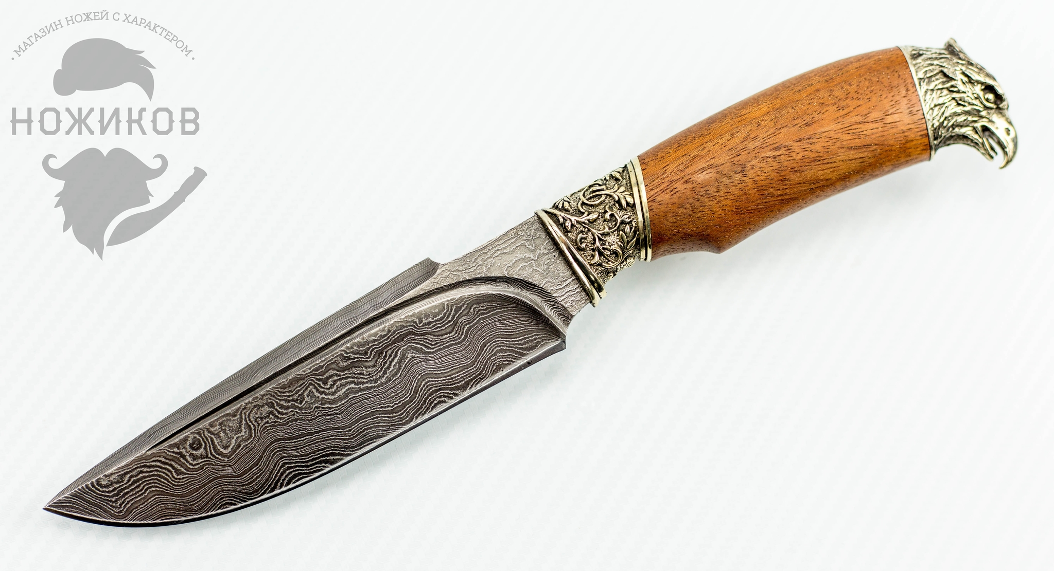 Авторский Нож из Дамаска №72, Кизляр от Noname