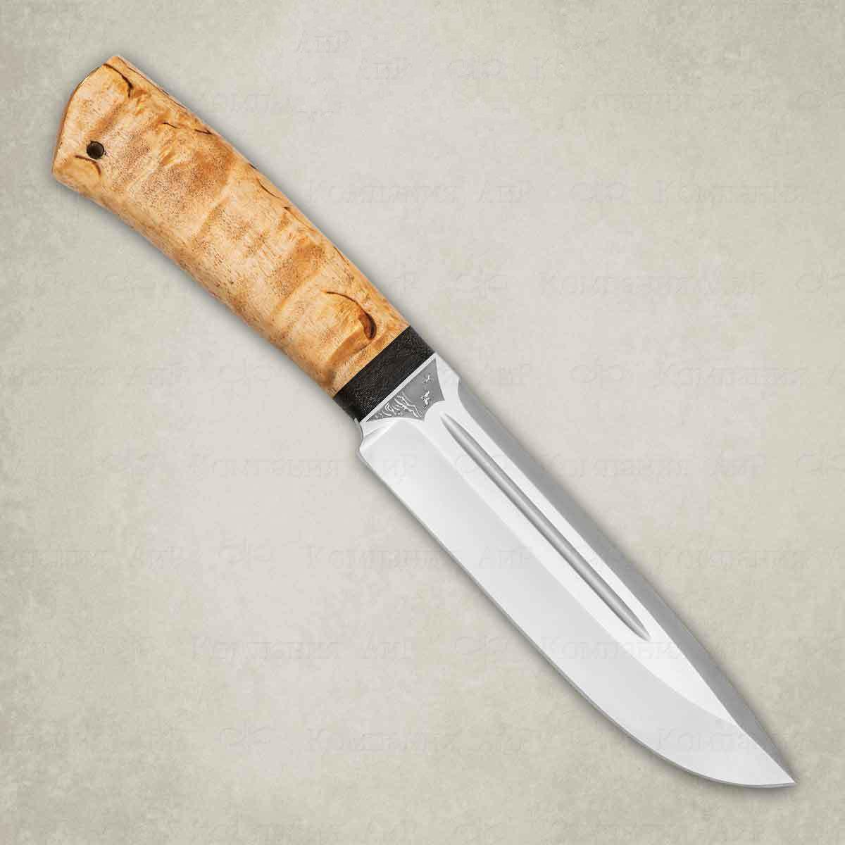 Фото - Нож разделочный АиР Селигер, сталь ЭП-766, рукоять карельская береза нож разделочный аир финка 3 сталь эп 766 рукоять карельская береза