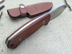 Нож с фиксированным клинком LionSteel M3 ST Santos Wood, сталь Niolox, рукоять палисандр, фото 3