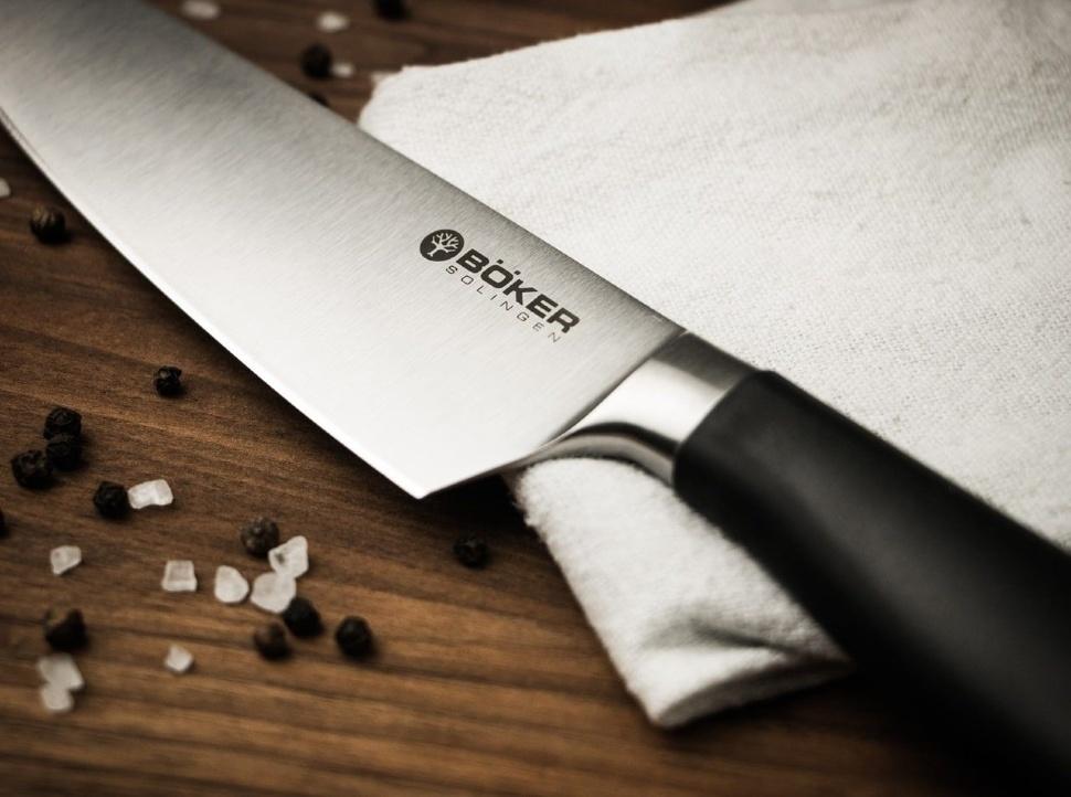 Фото 4 - Кухонный нож шефа Bker Core Professional Chef's Knife, 207 мм, сталь X50CrMoV15, рукоять пластик от Boker