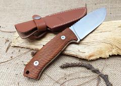 Нож с фиксированным клинком LionSteel M3 ST Santos Wood, сталь Niolox, рукоять палисандр, фото 4