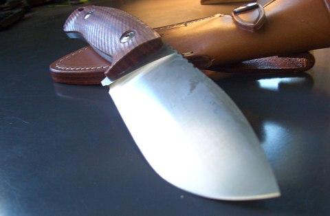 Нож с фиксированным клинком LionSteel M3 ST Santos Wood, сталь Niolox, рукоять палисандр. Вид 5